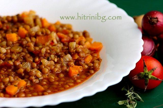 леща яхния с моркови