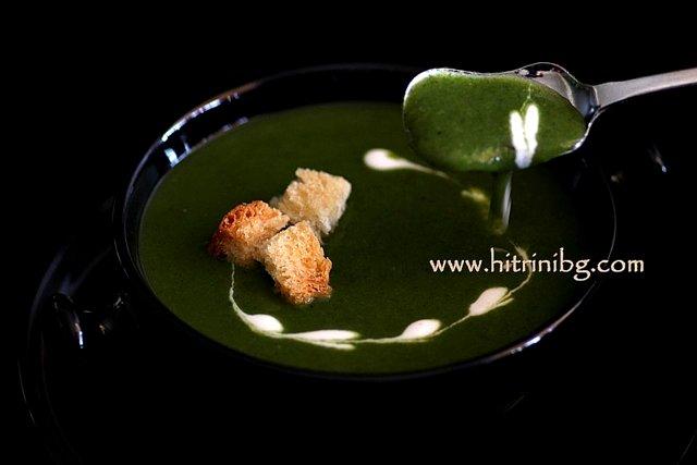 спаначена крем супа