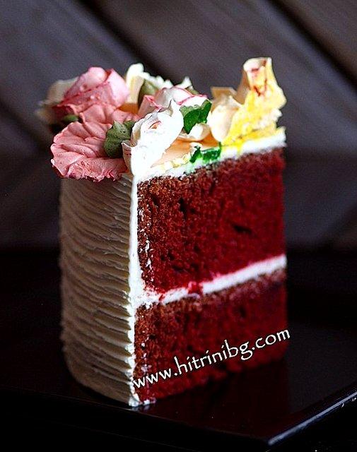 парче от торта червено кадифе