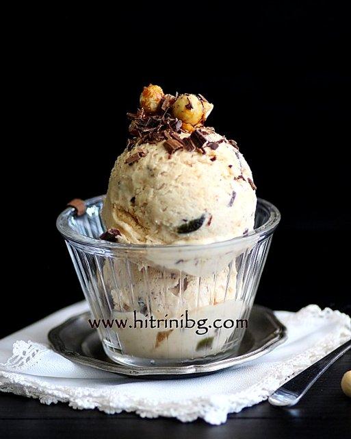 нуга сладолед в чаша