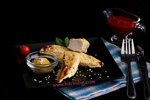 мариновано пилешко филе с горчица