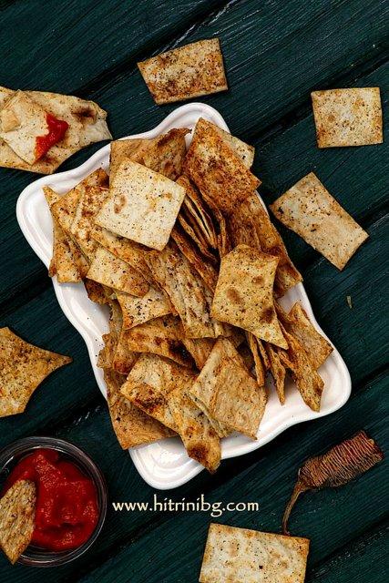 пикантен чипс от лаваш