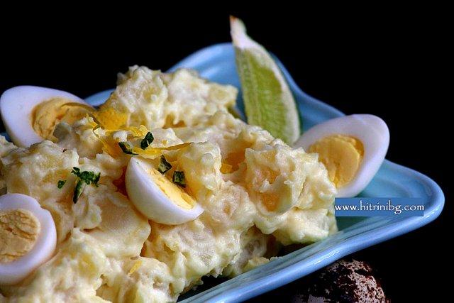 картофи с майонеза и лимон