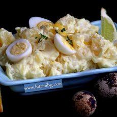 Картофи с майонеза - зимна салата
