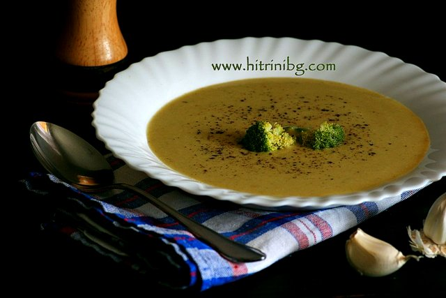 Домашна крем супа от броколи