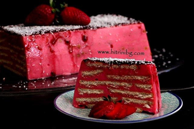 бисквитена торта с нишесте