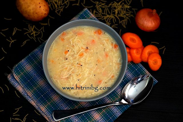 Млечна супа с фиде