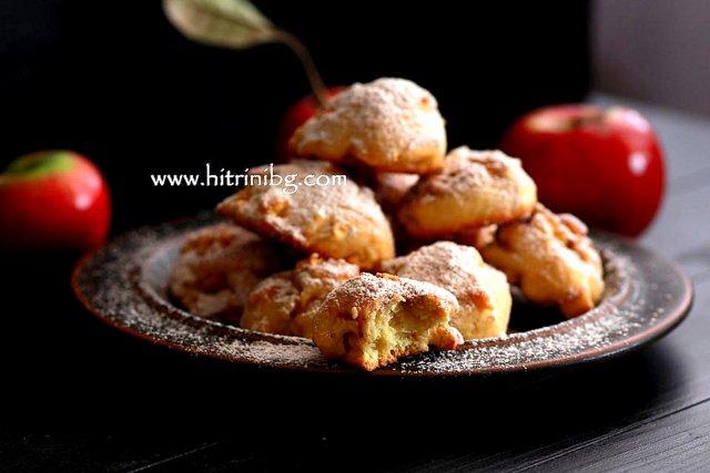 Бисквити с ябълки