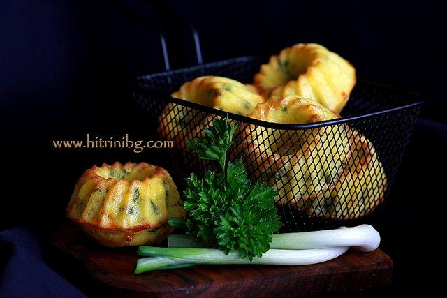 Мъфини с кашкавал и сирене