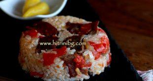 телешкото с ориз