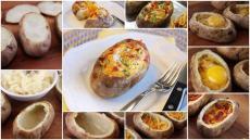 Картоф с яйце и кашкавал