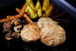 Кюфтета от пилешко месо на фурна