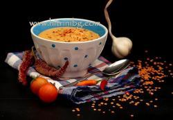 Червена леща - постна крем супа