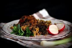 Печено агнешко с ориз и лапад