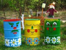 Забавна декорация в градината
