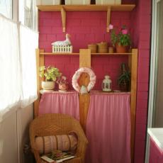 тераса в розово