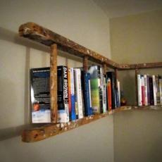 библиотека от дървена стълба