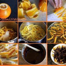 Жулиени от портокалови кори
