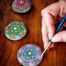 Камък с уникални рисунки