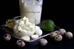 Майонеза от пъдпъдъчи яйца