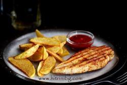 Пилешко филе в сандвич преса