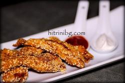 Пилешко със сусам - лесно и вкусно
