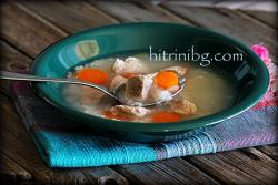Диетична супа с месо и ориз