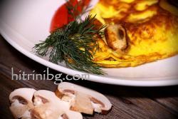 Омлет с гъби печурки