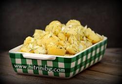 Зимна картофена салата - домашна