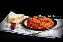 Шкембе с доматен сос и чесън