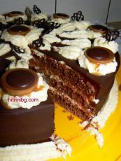 Шоколадова торта с крем