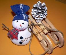 Снежен човек за декорация