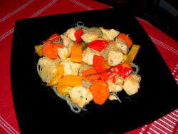 пилешко филе със зеленчуци