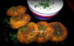 кюфтета със спанак и картофи