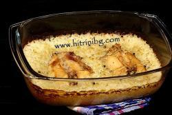 Заешко с ориз на фурна