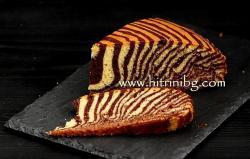 Сладкиш зебра - домашна рецепта