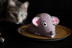 Торта мишка с фондан